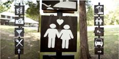DIY Camping Party Signs