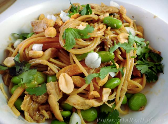 Friday Originals: Spicy Chicken & Edamame Noodles