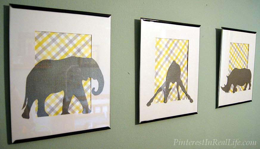 Diy Nursery Decor Safari Wall Art Pinterest In Real Life