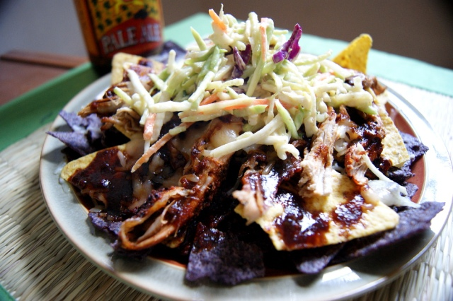 Friday Originals: Pulled Pork Nachos with Sriracha Stout BBQ Sauce