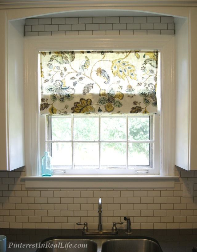 Pinterest In Real Life: DIY Faux Roman Shades