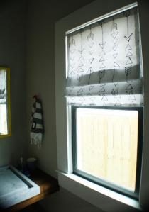 DIY Faux Roman Shades from Kristen Davis Designs