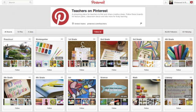 Teachers on Pinterest Group Boards
